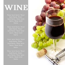 Free Red Wine. Royalty Free Stock Photos - 21455718