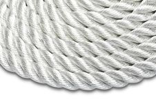 Free Rope Isolated On White Stock Image - 21456281