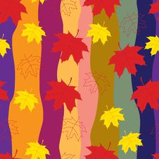 Free Autumn Leaves Seamless Pattern Stock Photo - 21458040