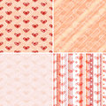 Free Set Seamless Valentine Pattern Stock Image - 21460681