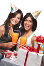 Free Beautiful Girls Celebrate Birthday Royalty Free Stock Photo - 21462835
