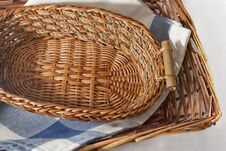 Free Brown Wicker Basket Stock Image - 21460371