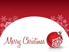 Free Christmas Card Red Backround Stock Images - 21460564