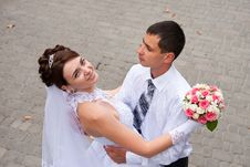 Free Happy Bride And Groom At The Wedding Walk Stock Photo - 21461410