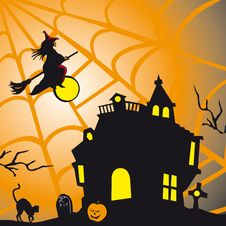 Halloween Theme Square Card Royalty Free Stock Image