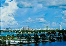 Free Miami Skyline Royalty Free Stock Images - 21463949