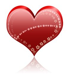 Big Shine Heart Royalty Free Stock Photo