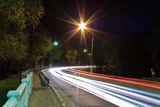 Free Night Traffic Light Royalty Free Stock Images - 21466719