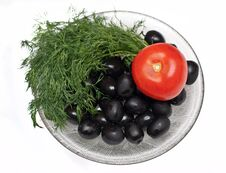 Olives Dill Tomato Stock Image