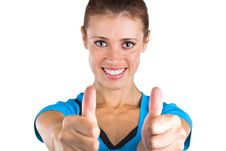 Free Beautiful Girl Showing A Thumbs Up Royalty Free Stock Photography - 21467907