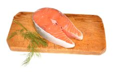 Free Salmon On A Board Stock Images - 21468124