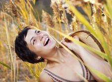 Free Portrait Of Beautiful Brunette Woman In Summer Stock Images - 21468154
