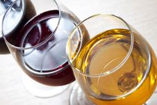 Free Three Colors Of Wine Royalty Free Stock Photography - 21468367