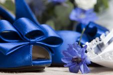 Free Blue Wedding Shoes Stock Images - 21468534