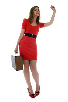 Free Business Woman Waving To A Co-worker Royalty Free Stock Image - 21470776