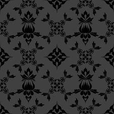 Free Damask Wallpaper Pattern Royalty Free Stock Image - 21474506