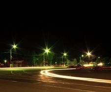 Free Night Traffic Light Stock Images - 21475874