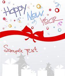 Free Happy New Year Postcard Royalty Free Stock Photos - 21476908