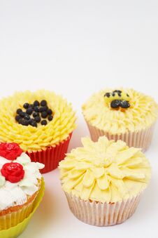 Free Variety Of Cupcakes With Decorative Techniques Royalty Free Stock Photo - 21477965