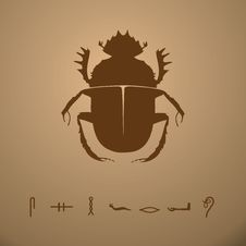 Free Scarab Beetle Vector Illustration Stock Photography - 21478272