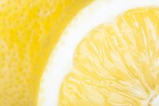 Free Closeup Of Slice Of Lemon Stock Image - 21479901