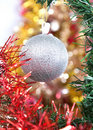 Free Silver Ball As A Decoration Stock Image - 21489721