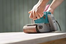 Electrical Sanding Machine Royalty Free Stock Images