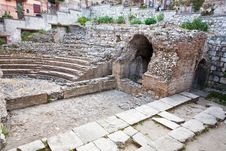 Free Antique Roman Amphitheater Odeon, Taormina, Sicily Stock Photos - 21481883