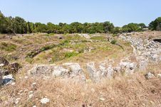 Free Antique Roman Amphitheater In Syracuse, Sicily Stock Images - 21482034