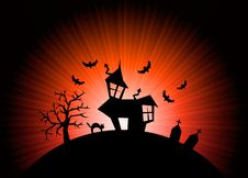 Free Red Halloween Nightmare World Background Stock Photo - 21484660