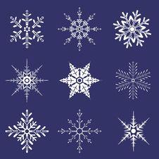 Free Various Shapes Of Snowflakes Royalty Free Stock Photo - 21485875
