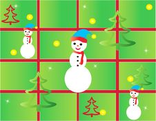 Free Christmas Card Frame Gift Figures Tree Stock Photos - 21485933