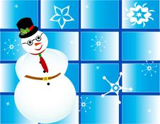 Free Christmas Card Frame Gift Snowman Snow Stock Photos - 21485943