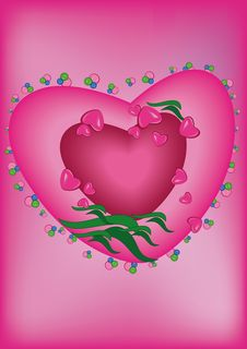 Free Heart On A Pink Background Stock Image - 21486401