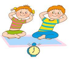 Free Child S Gymnastics Royalty Free Stock Photos - 21486758