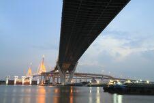 Free Bhumibol Bridge In Thailand Royalty Free Stock Image - 21486816