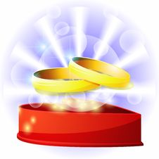 Free Box With Wedding Rings Royalty Free Stock Photos - 21488188