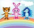 Free Animals On Rainbow Stock Photos - 21495153