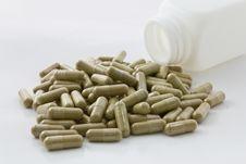 Herbal Medicine Capsule Stock Photo