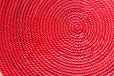Free Red Rope Coil Stock Image - 21491011