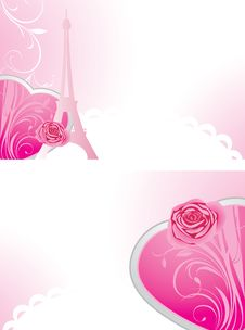 Free Two Holiday Banners For Valentines Day Royalty Free Stock Photo - 21491015