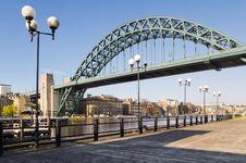 Free Tyne Bridge With Lamp Posts Stock Images - 21492374
