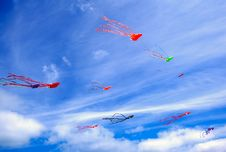 Free Colorful Kites Stock Image - 21492791