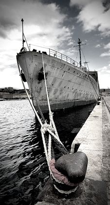 Free Old Military Ship Royalty Free Stock Photos - 21494668