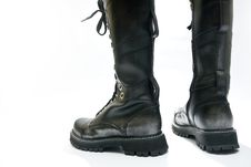 Free The High Black Boots Royalty Free Stock Images - 21495549
