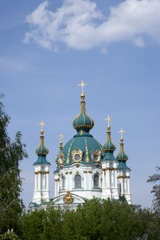 Free St. Andrew S Church In Kyev Stock Photography - 21496262