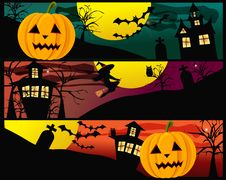 Free Halloween Banners Royalty Free Stock Photos - 21496928
