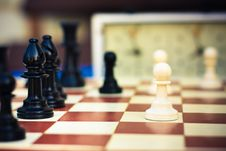 Set Of Chess Figures On The Playing Board Stock Image