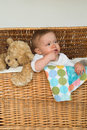 Free Baby And Teddy Royalty Free Stock Photos - 2157248