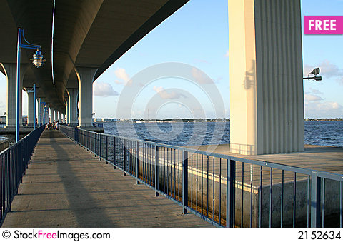 Free Bridge Over Fishing Area Stock Images - 2152634